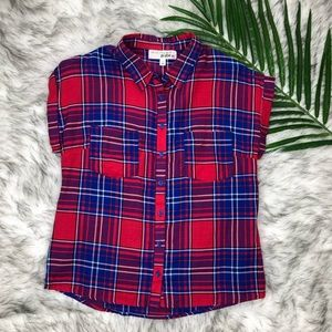 I'm in Love with Derek Womans Plaid Short Sleeve